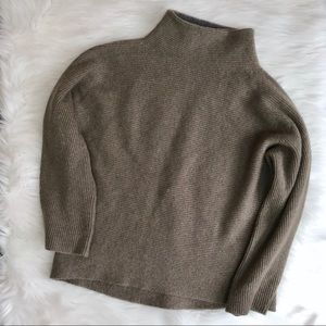 VINCE Wool Cashmere Chunky Ribbed Sweater